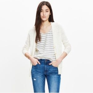 {Madewell} The Graduate Cardigan V-Neck Cotton
